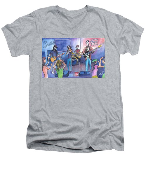 Dewey Paul Band Men's V-Neck T-Shirt