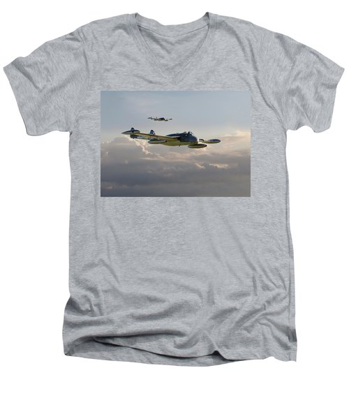Men's V-Neck T-Shirt featuring the photograph  Dh112 - Venom by Pat Speirs