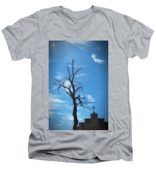 Men's V-Neck T-Shirt featuring the photograph Dia De Los Muertos by Lynn Geoffroy