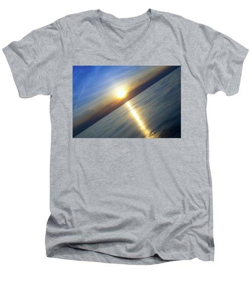 Diagonal Sunset Men's V-Neck T-Shirt