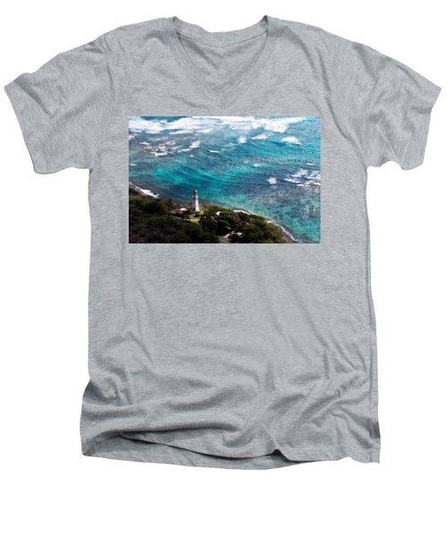 Diamond Head Lighthouse Men's V-Neck T-Shirt