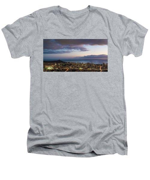 Men's V-Neck T-Shirt featuring the photograph Diamond Life by Alex Lapidus