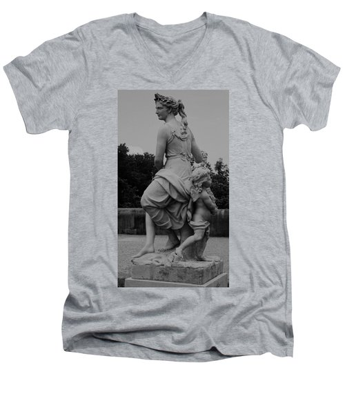 Men's V-Neck T-Shirt featuring the painting Diana by Eric  Schiabor
