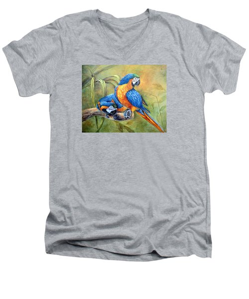 Did You See That Men's V-Neck T-Shirt by Mary McCullah