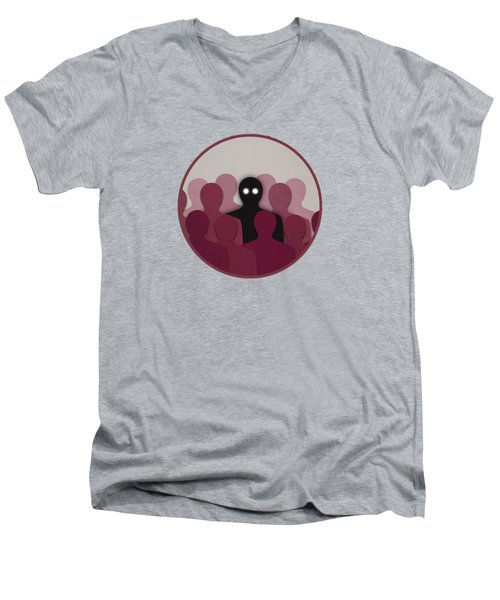 Different And Alone In Crowd Men's V-Neck T-Shirt