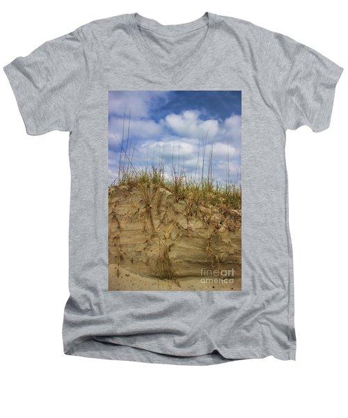 Digging In Deep In Sand Dunes Men's V-Neck T-Shirt