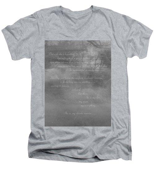 Digital Poem Men's V-Neck T-Shirt