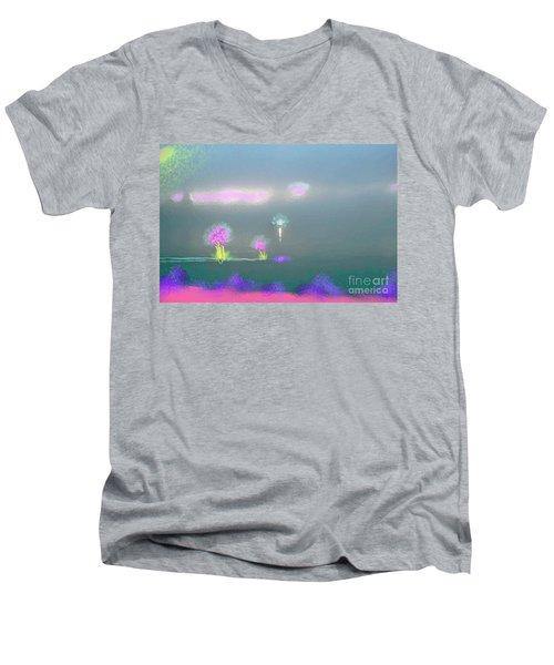 Digital Sunrise Men's V-Neck T-Shirt