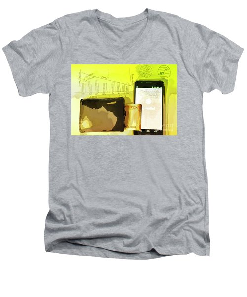 Digitalization Men's V-Neck T-Shirt
