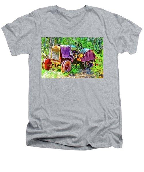 Dilapidated Tractor Men's V-Neck T-Shirt