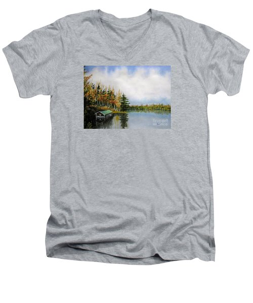 Dillman's Boathouse Men's V-Neck T-Shirt