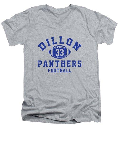 Dillon Panthers Football 2 Men's V-Neck T-Shirt