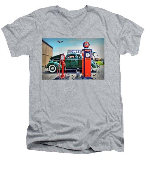 Ding Ding For Service Men's V-Neck T-Shirt