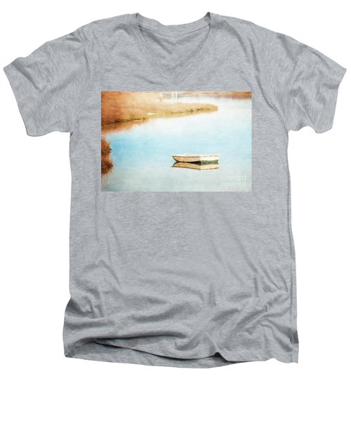 Dinghy In Eastham Men's V-Neck T-Shirt