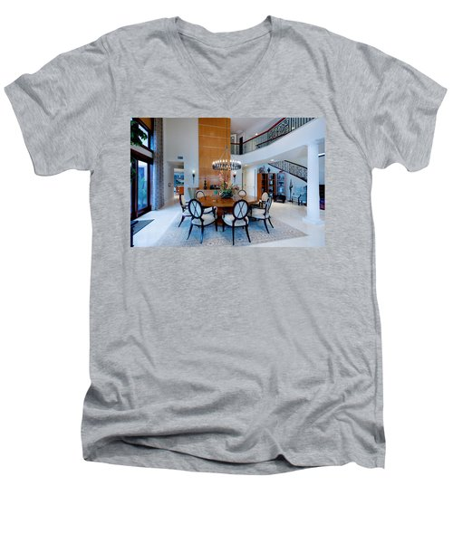 Dining In The Round Men's V-Neck T-Shirt