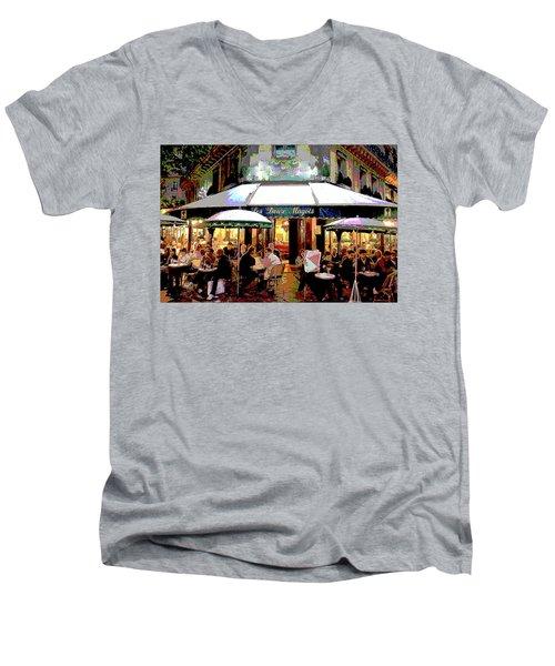 Dining Out Men's V-Neck T-Shirt