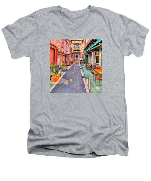 Dink's Taxi Bar Harbor Men's V-Neck T-Shirt