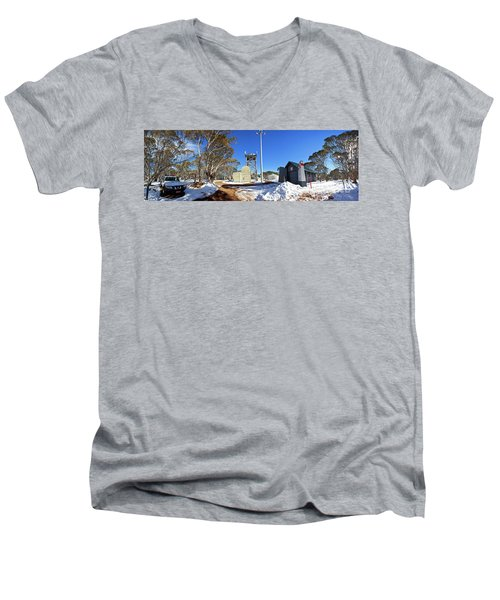 Dinner Plain Cfa Men's V-Neck T-Shirt by Bill Robinson