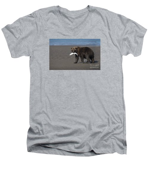 Men's V-Neck T-Shirt featuring the photograph Dinner Time by Sandra Bronstein