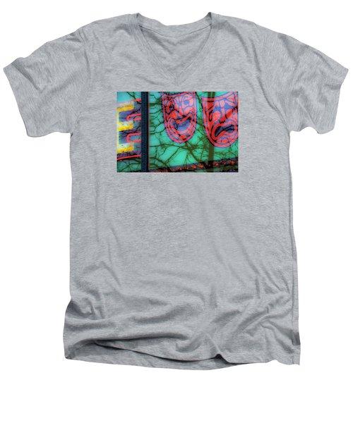 Dionysus Comedy And Tragedy V3 Men's V-Neck T-Shirt