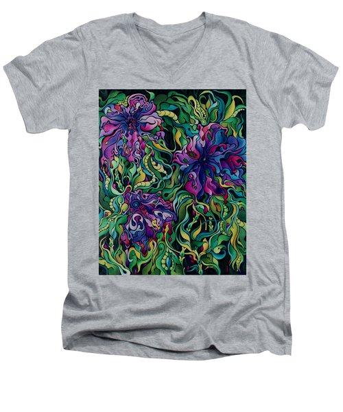 Dioxazine Disintegration Men's V-Neck T-Shirt