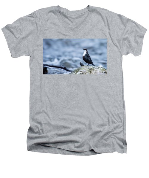 Men's V-Neck T-Shirt featuring the photograph Dipper's Call by Torbjorn Swenelius