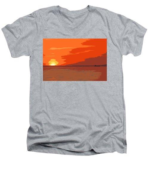Direct Hit Men's V-Neck T-Shirt