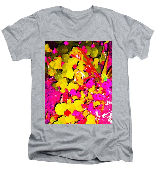 Men's V-Neck T-Shirt featuring the digital art Discovering Joy by Winsome Gunning