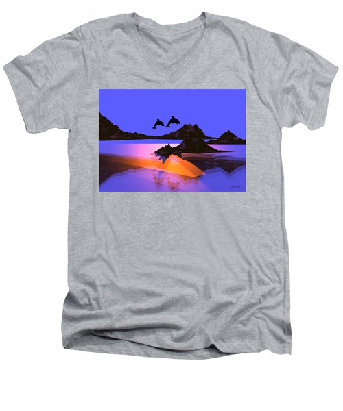 Discovery Men's V-Neck T-Shirt by Robert Orinski