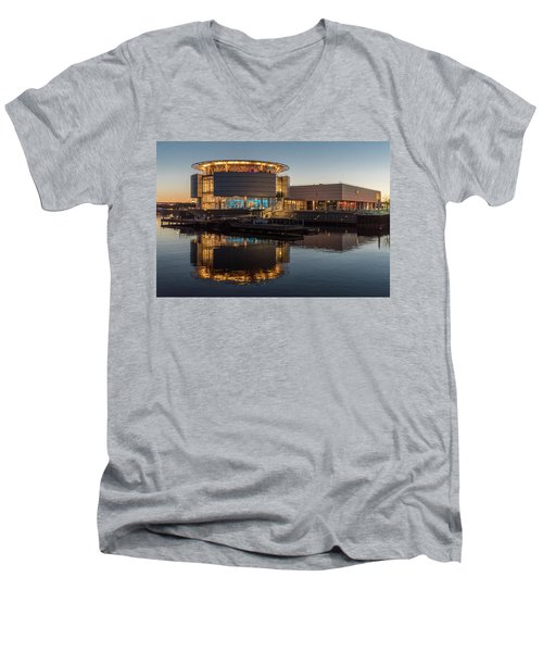 Men's V-Neck T-Shirt featuring the photograph Discovery World by Randy Scherkenbach