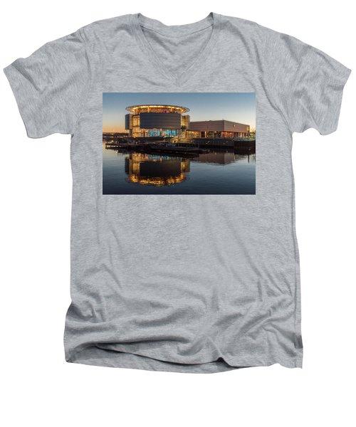 Discovery World Men's V-Neck T-Shirt by Randy Scherkenbach