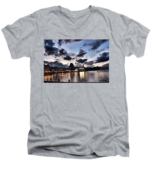 Disney Boardwalk Sunset Men's V-Neck T-Shirt