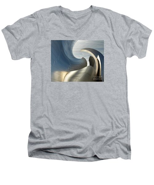 Disney Concert Hall Swirl Men's V-Neck T-Shirt
