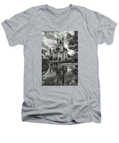 Disney Reflections Men's V-Neck T-Shirt by Nikki McInnes