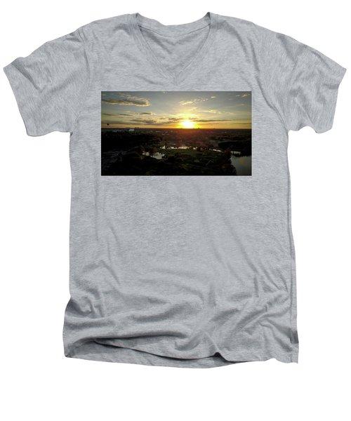 Disney Sunset Men's V-Neck T-Shirt by Michael Albright