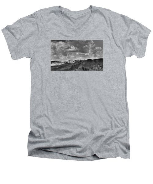 Distant Mountains The Badlands Men's V-Neck T-Shirt