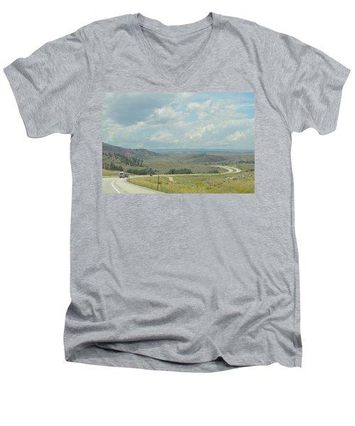 Distant Roads Men's V-Neck T-Shirt