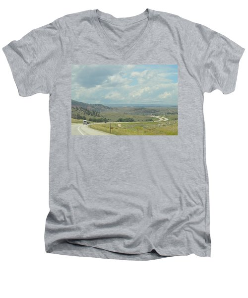 Distant Roads Men's V-Neck T-Shirt