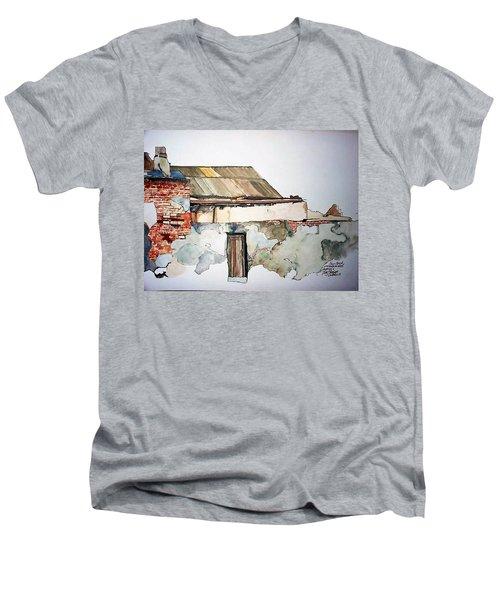 District 6 No 4 Men's V-Neck T-Shirt