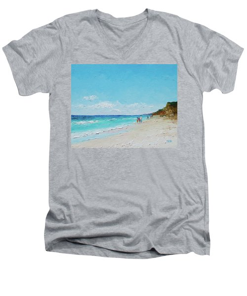 Ditch Plains Beach Montauk Hamptons Ny Men's V-Neck T-Shirt