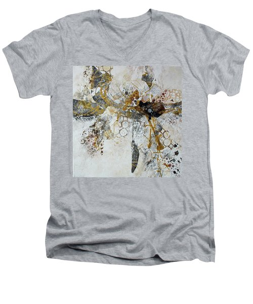 Men's V-Neck T-Shirt featuring the painting Diversity by Joanne Smoley