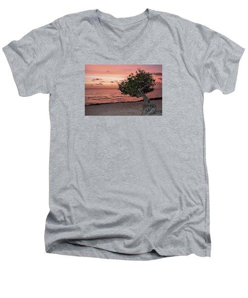 Divi Divi Aruba Men's V-Neck T-Shirt by DJ Florek