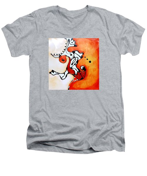 Divided Sunset Men's V-Neck T-Shirt