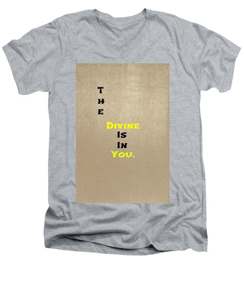Divine #3 Men's V-Neck T-Shirt