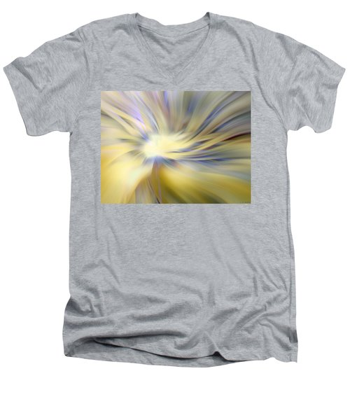 Divine Energy Men's V-Neck T-Shirt by Lauren Radke