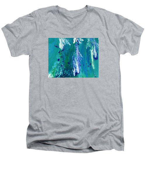 Diving To The Depths Men's V-Neck T-Shirt by Lori Kingston