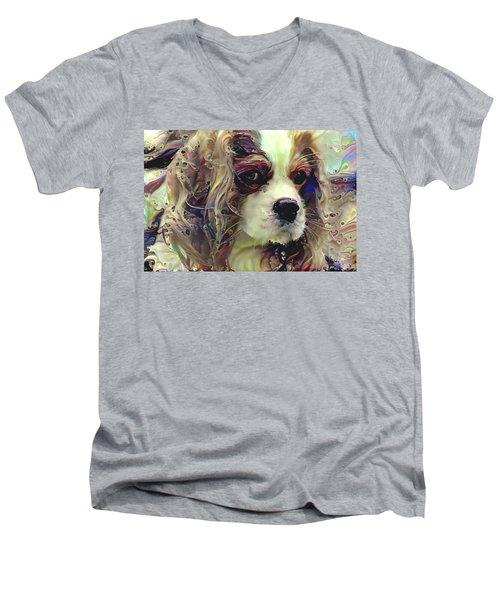 Dixie The King Charles Spaniel Men's V-Neck T-Shirt