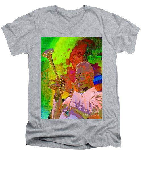 Dizzy Men's V-Neck T-Shirt by Mojo Mendiola