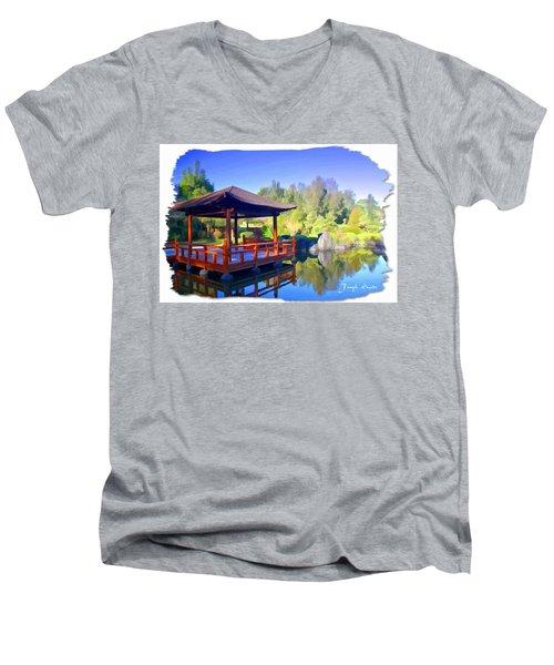 Do-00003 Shinden Style Pavilion Men's V-Neck T-Shirt