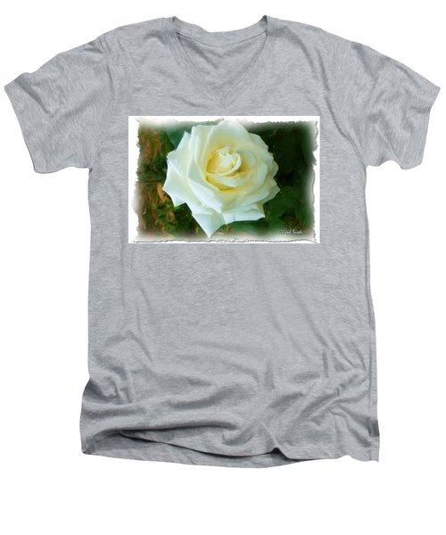 Men's V-Neck T-Shirt featuring the photograph Do-00300 La Rose De Aaraya by Digital Oil